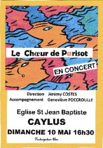 Concert du Choeur de Parisot Le 10 Mai